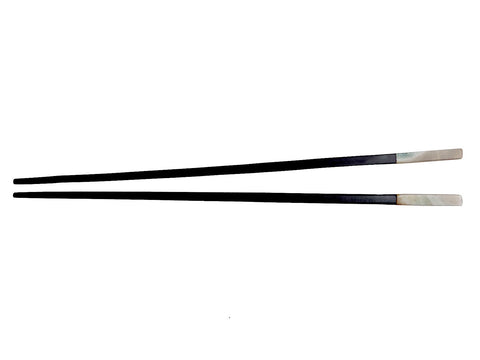 Chopsticks Ebony And Abalone 4Cm