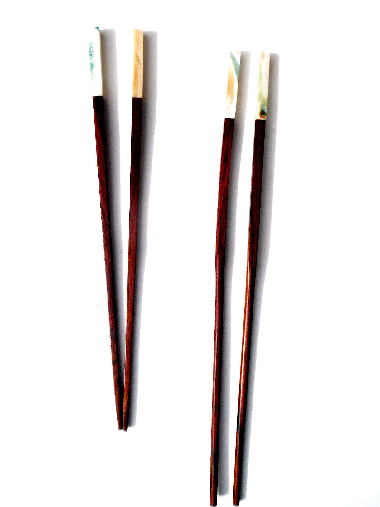 Chopsticks Rosewood And Abalone 4Cm - Two Lengths Available
