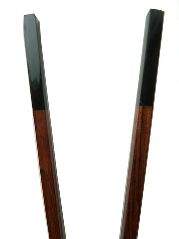 Chopsticks Rosewood And Black Horn 5Cm