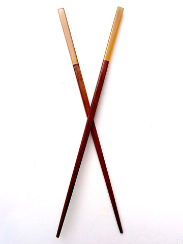 Chopsticks Rosewood And Mixed Horn 6 cm