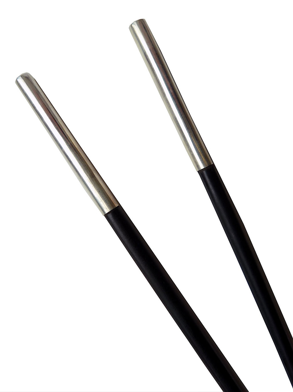 Chopsticks Round Ebony And Sterling Silver 6Cm