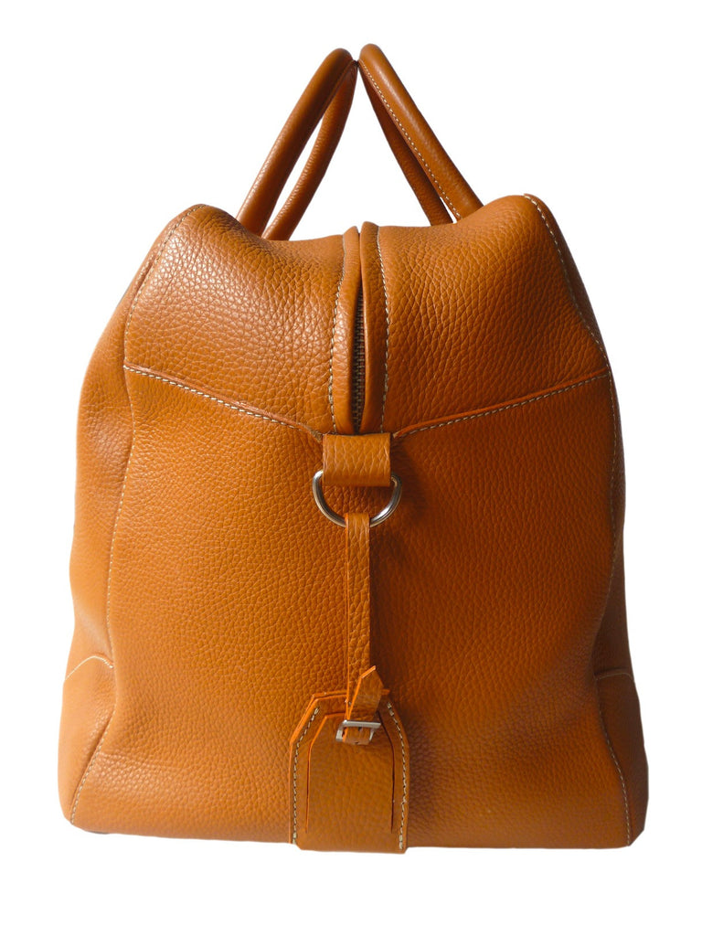 Carry On Bag Pebble Grain Leather Orange