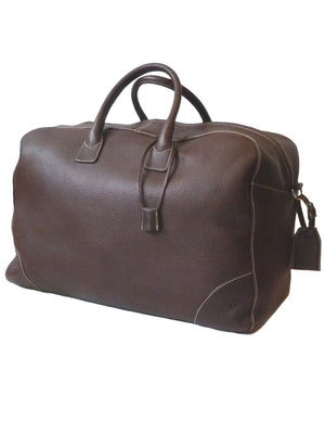 Carry On Bag Pebble Grain Leather Chocolate