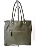 Doble Tote Bag Pebble Grain Leather Sand