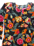 Raja Cotton Tunic Black Floral