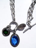 Necklace Intaglio Double Length 3 Pendant Charms