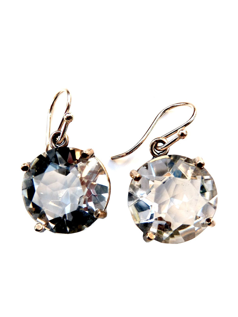 Earrings Bling Drop Rock Crystal Quartz Large