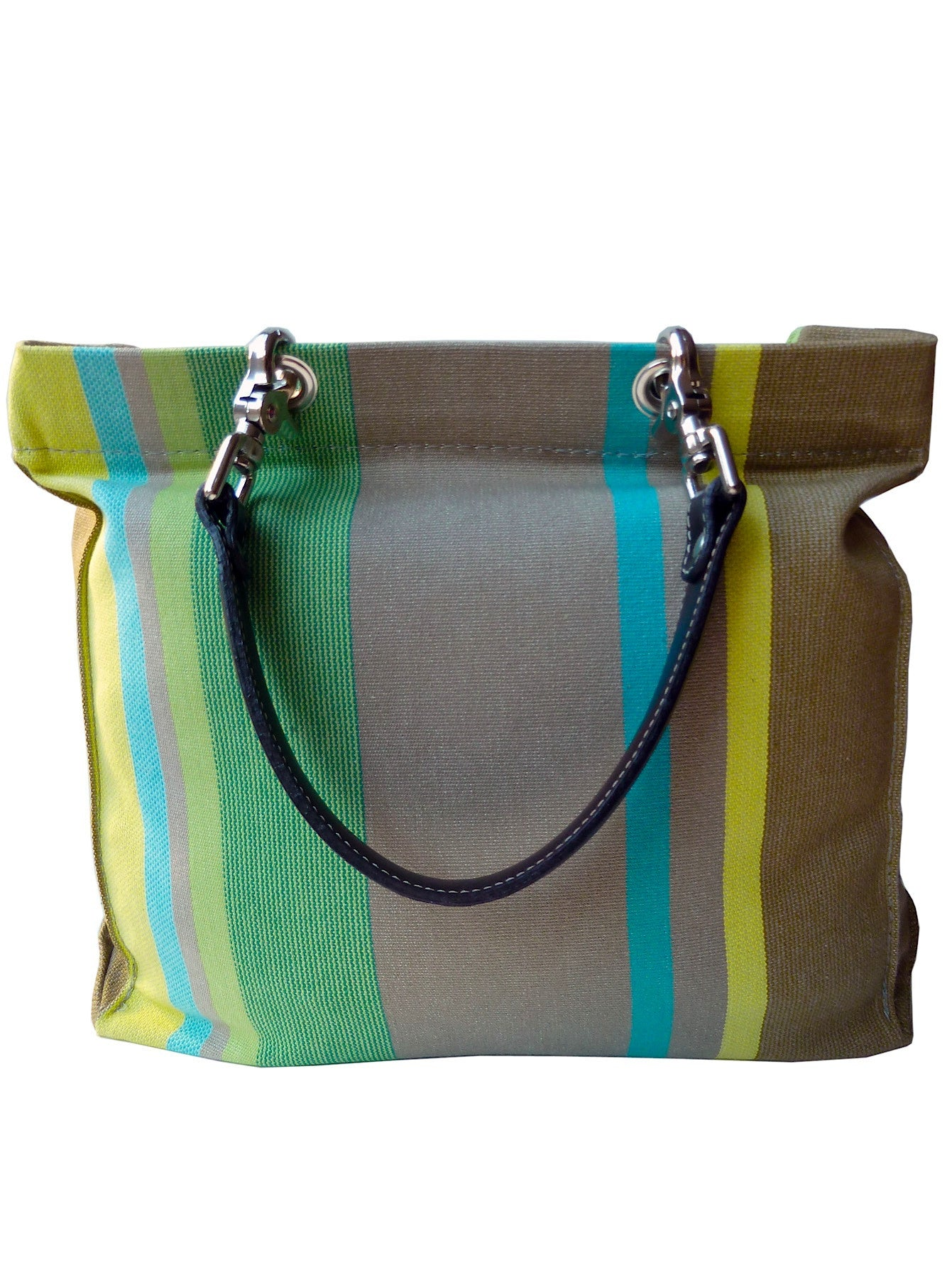 French Cotton Stripe Bags Khaki Blue Green