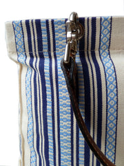 French Cotton Stripe Bags Blue And White