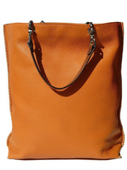 Gajumbo Tote Bag Pebble Grain Leather Red