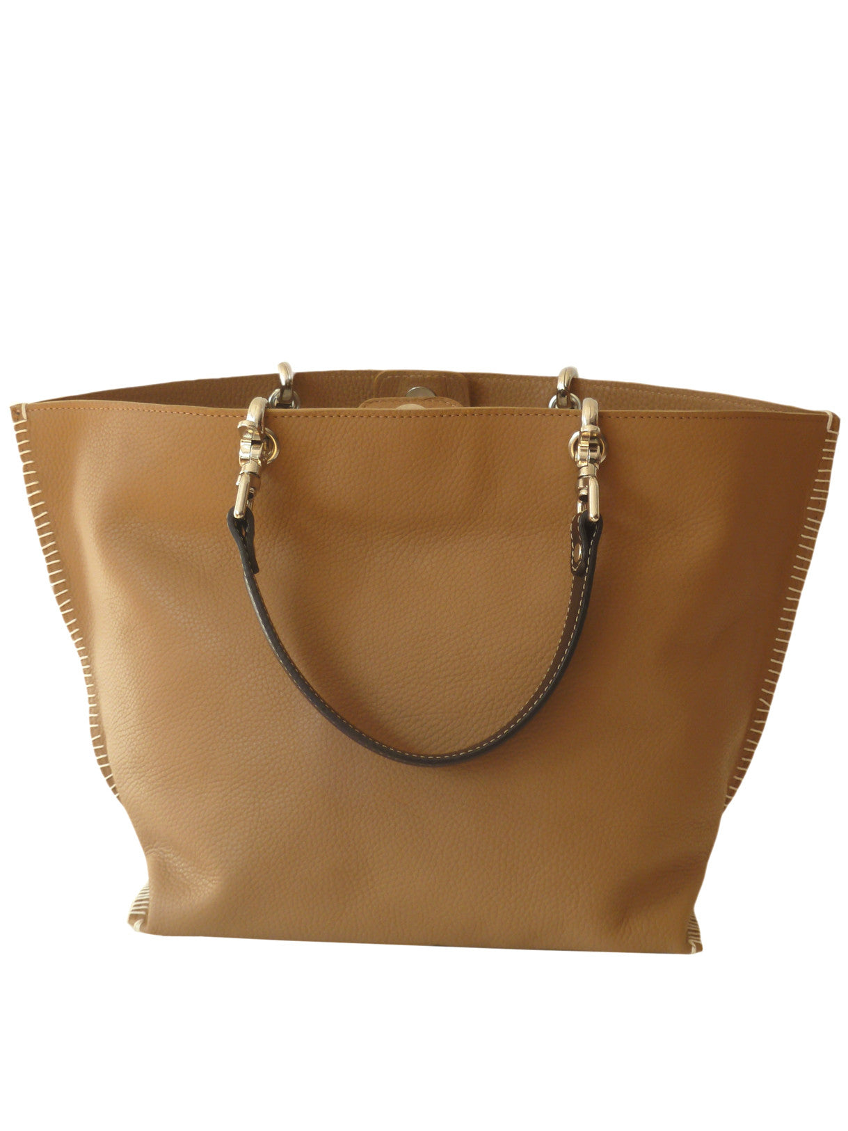 Gamidi 2 Tote Pebble Grain Leather Elephant Grey