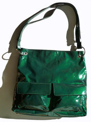 Gapock X Crossbody Travel Bag Patent Leather Espresso