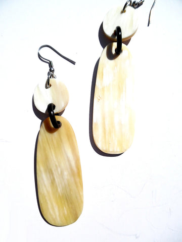 Horn Earrings Dogtag