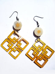 Horn Earrings Mod Diamond