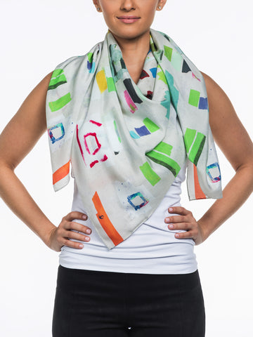 Art teca Silk Scarf by Franklin Evans