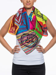 Art teca Silk Scarf by John Zoller