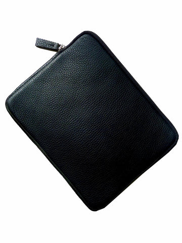 Ipad Case Pebble Grain Leather Black