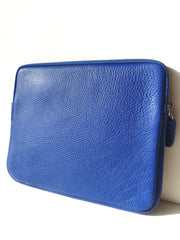 Ipad Case Pebble Grain Leather Cobalt Blue