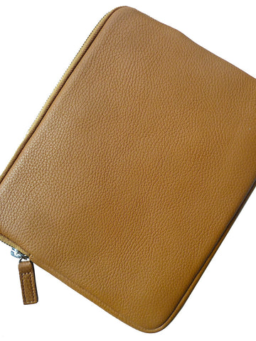 Ipad Case Pebble Grain Leather Tan