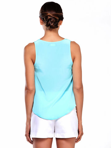 Kinetic Silk Tank by Jovi Schnell