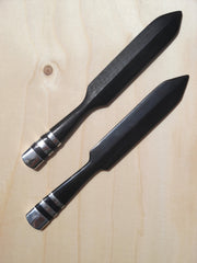 LETTER OPENER IN HORN OR EBONY WOOD AND STERLING SILVER