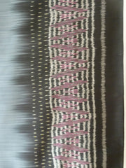 Silk Ikat Shawl Or Throw Black Red Teal