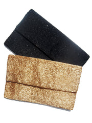 Beaded Envelope Clutch Bag Matte Black or Gold