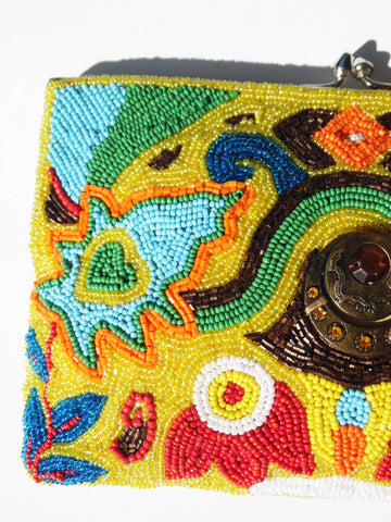 Beaded Evening Bag Groovy Evil Eye