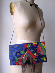 Large Beaded Envelope Clutch Bag Loca