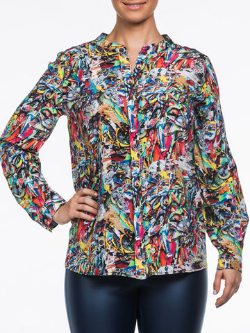 Muse Silk Blouse by Pepe Mar