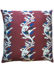 Burmese Silk Pillow Burgundy