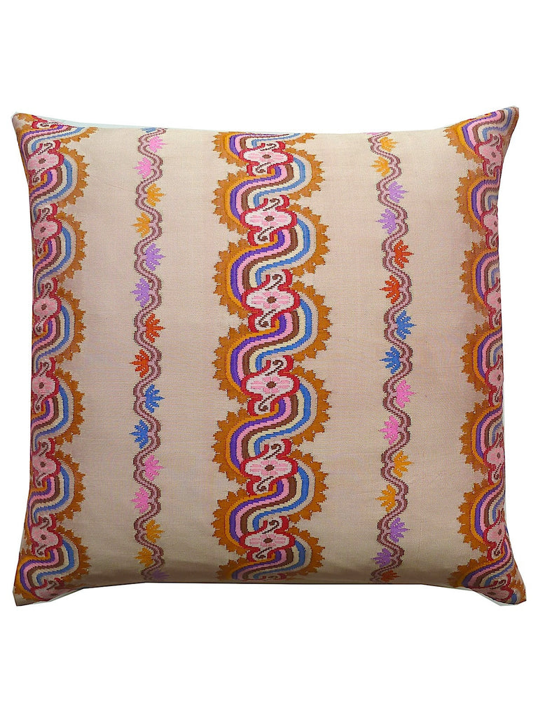 Burmese Silk Pillow Blush Terracotta