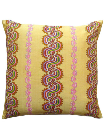 Burmese Silk Pillow Butter Swirl