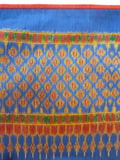Silk Ikat Textile Wall Hanging Throw Royal Blue