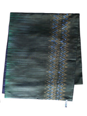 Silk Ikat Double Side Shawl Black Amethyst Eggplant