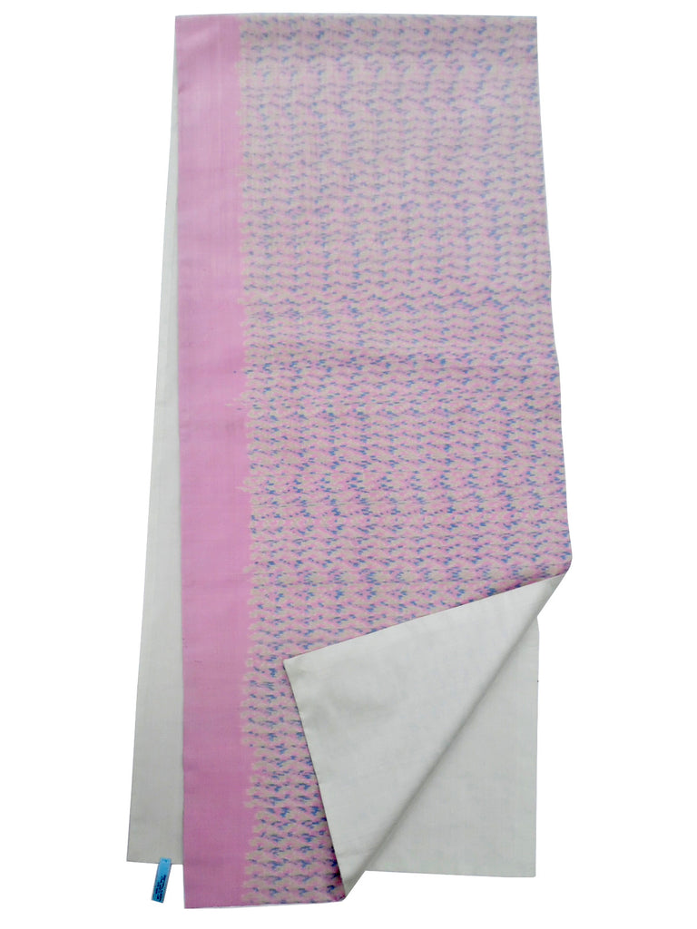 Silk Ikat Double Sided Shawl Baby Pink