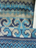 Silk Ikat Double Sided Shawl Silver And Blues