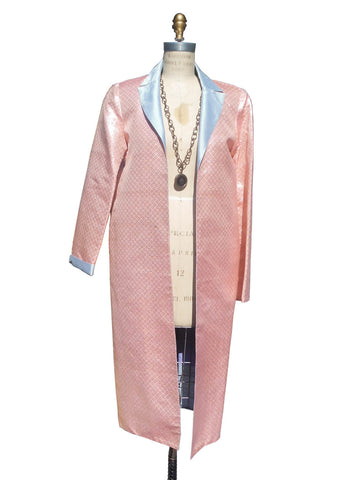 Reversible Silk Opera Coat Pink Blue