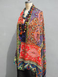 Shawl Silk And Cashmere Art Nouveau