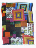 Shawl Silk And Cashmere Colorblock Multicolor