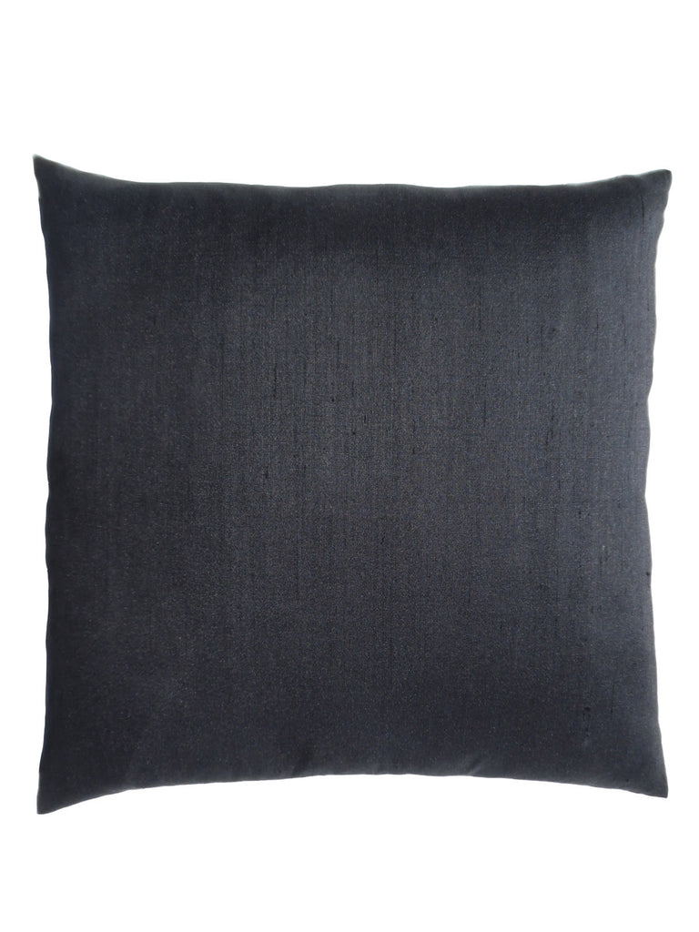 Thai Silk Solid Pillow Black