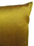Thai Silk Solid Pillow Bronze