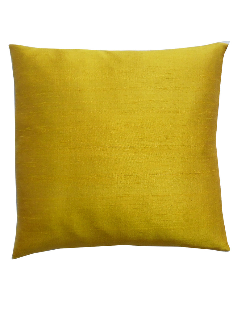 Thai Silk Solid Pillow Buttercup