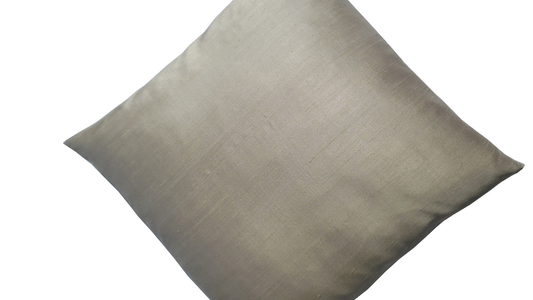 Thai Silk Solid Pillow Champagne