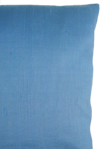 Thai Silk Solid Pillow Cornflower