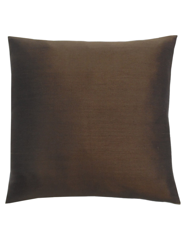 Thai Silk Solid Pillow Espresso