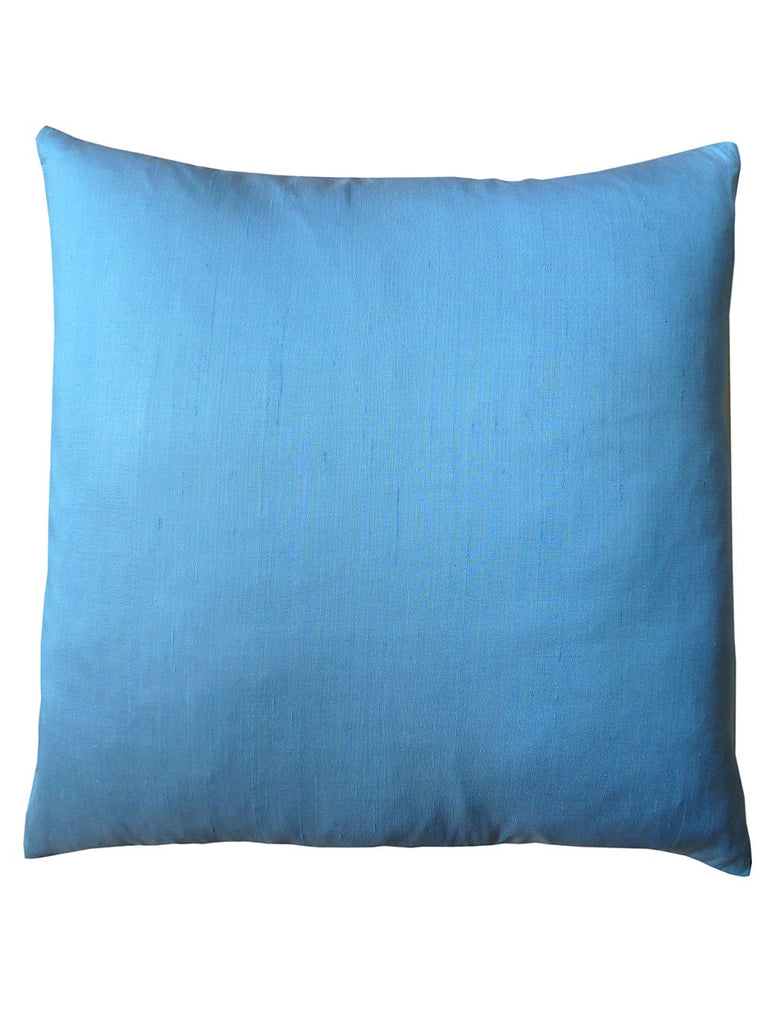 Thai Silk Solid Pillow Light Blue