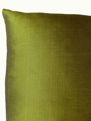 Thai Silk Solid Pillow Lemongrass