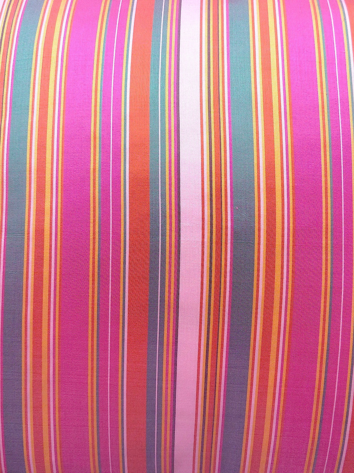 THAI SILK CABANA STRIPE PILLOW PINK