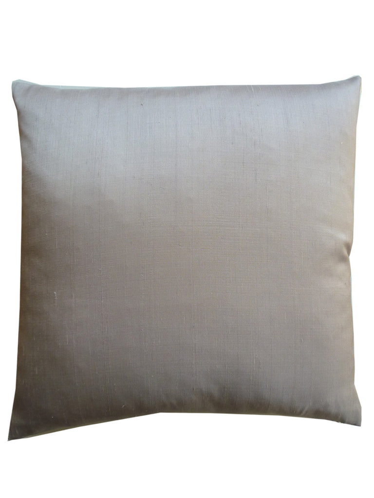 Thai Silk Solid Pillow Silver Cord